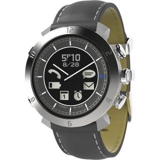 [2017夏フェス特価]スマートフォン連動腕時計 COGITO CLASSIC レザー グレイ