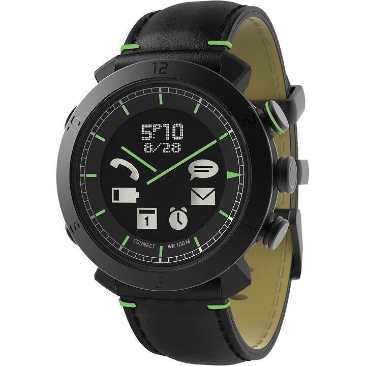 スマートフォン連動腕時計 COGITO CLASSIC レザー ブラック