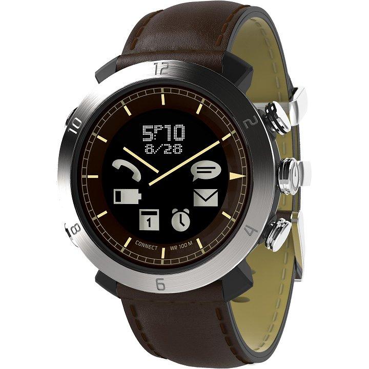 スマートフォン連動腕時計 COGITO CLASSIC レザー ブラウン_0