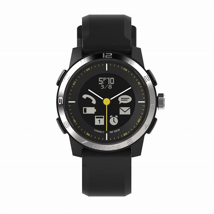 スマートフォン連動腕時計 COOKOO2 シルバー_0