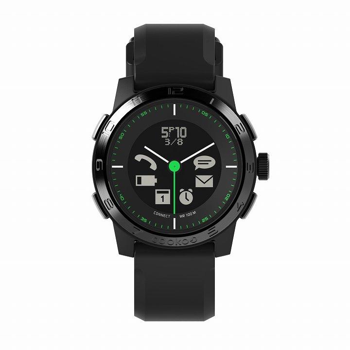 スマートフォン連動腕時計 COOKOO2 ブラック_0