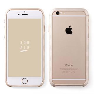 iPhone6s ケース 超々ジュラルミン SQUAIR The Dimple ゴールド iPhone 6s