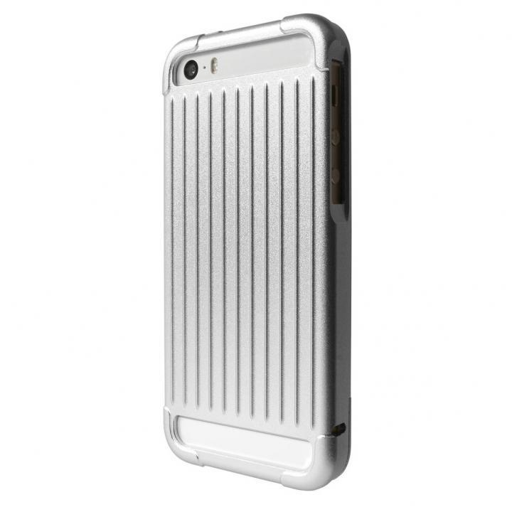 iPhone SE/5s/5 ケース GRAMAS Aluminium iPhone SE/5s/5 Case with Extra Glass シルバー_0