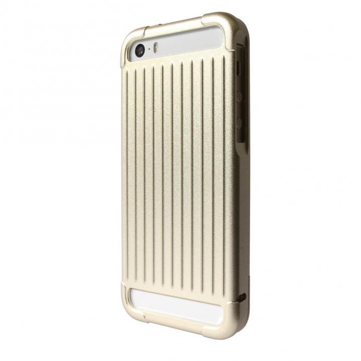 iPhone SE/5s/5 ケース GRAMAS アルミニウムケース iPhone SE/5s/5 ゴールド_0