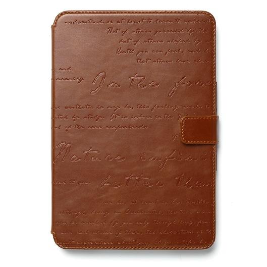iPad mini/2/3対応 Masstige Lettering Diary ブラウン