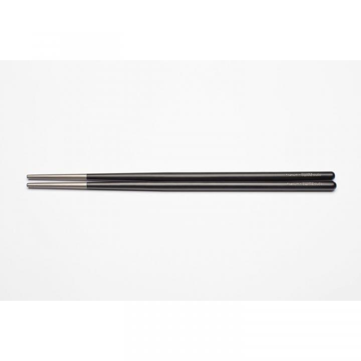 TWINZ チタン製箸 Black【7月中旬】_0