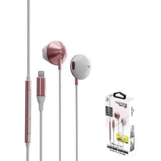 ライトニングイヤホンマイク Kyo-ons中高音型 ピンク