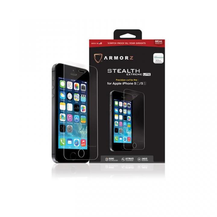 【iPhone SE/5s/5フィルム】Armorz Stealth Extreme Lite 強化ガラス保護シート iPhone SE/5s/5c/5_0