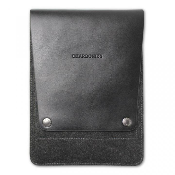 Charbonize レザー & フェルト iPad mini/2/3ケース  ブラック_0