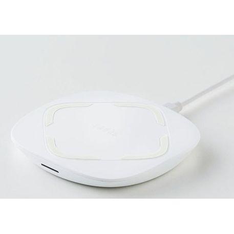 ワイヤレス充電 Qi 最大10W急速充電対応 Wireless charger Pad ホワイト_0