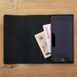 【iPhone XS Max/8 Plusケース】MYNUS 栃木レザーケース 167  ブラック iPhone XS Max/8 Plus/7 Plus/6s Plus/6 Plus_9