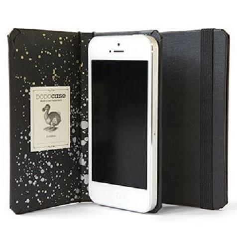 iPhone SE/5s/5 ケース DODOcase 【iPhone SE/5s/5対応ハードカバー 手帳型ケース】ブラック/エアー_0