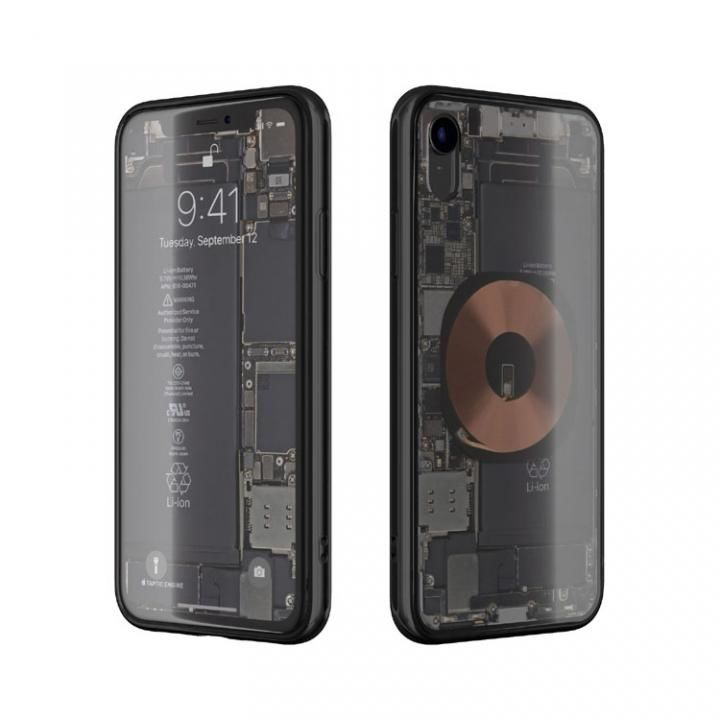 iPhone XR ケース EUREKA Translucent 6.1 背面強化ガラスケース ブラック for iPhone XR_0