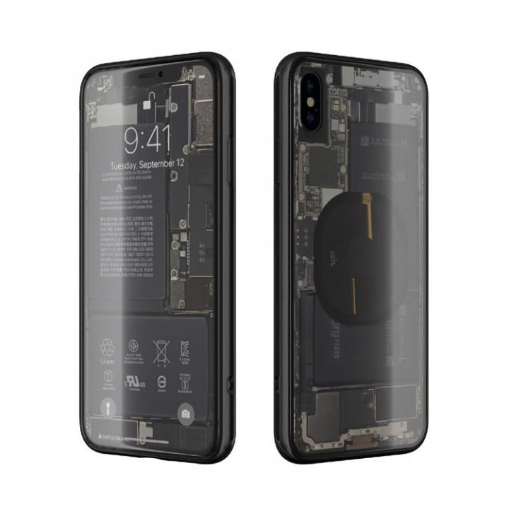 iPhone XS Max ケース EUREKA Translucent 6.5 背面強化ガラスケース ブラック for iPhone XS Max_0