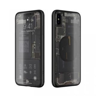 EUREKA Translucent 6.5 背面強化ガラスケース ブラック for iPhone XS Max