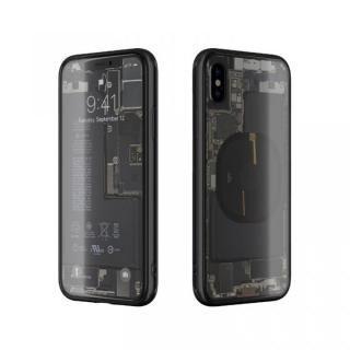iPhone XS/X ケース EUREKA Translucent 5.8 背面強化ガラスケース ブラック for iPhone XS/X