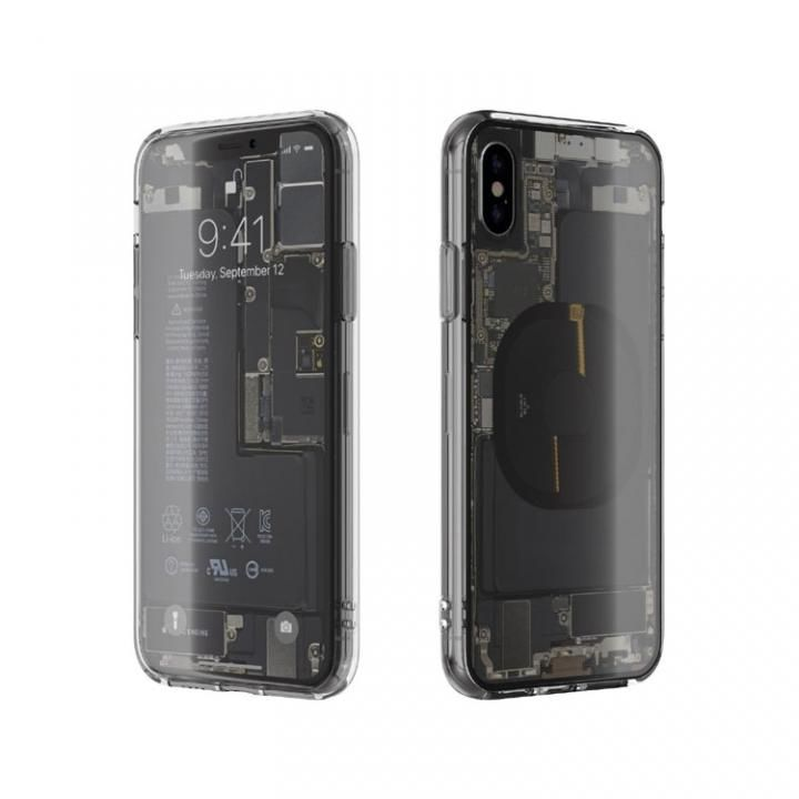 iPhone XS/X ケース EUREKA Translucent 5.8 背面強化ガラスケース クリア for iPhone XS/X_0