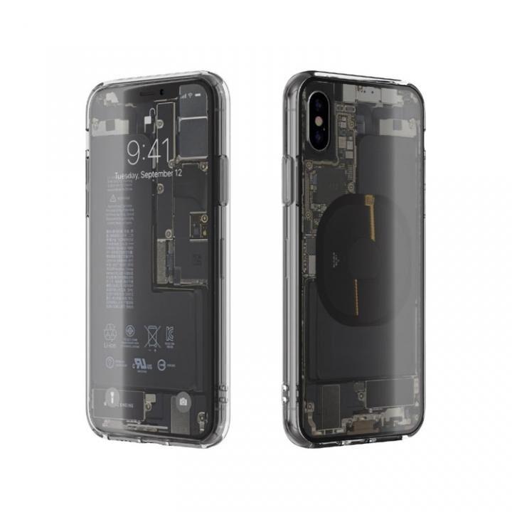 iPhone XS/X ケース EUREKA Translucent 5.8 背面強化ガラスケース クリア for iPhone XS/X_0