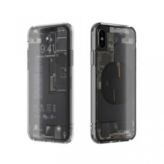 EUREKA Translucent 5.8 背面強化ガラスケース クリア for iPhone XS/X