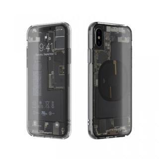 iPhone XS/X ケース EUREKA Translucent 5.8 背面強化ガラスケース クリア for iPhone XS/X