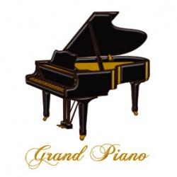 蒔絵シール グランドピアノ