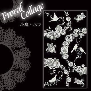 蒔絵シール Floral Collage 小鳥/バラ