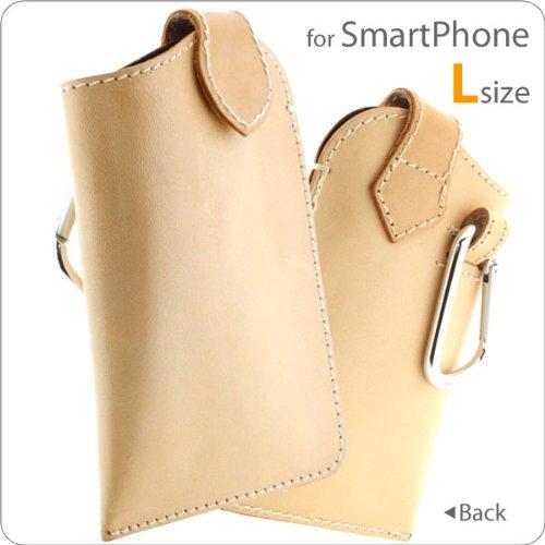 iPhone SE/5s/5 ケース 本革ハンドメイド・ヌメ革マルチケース Lサイズ_0