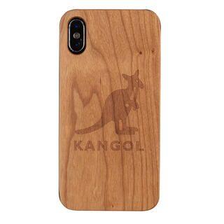 iPhone XS/X ケース KANGOL カンゴール ウッドケース LOGO iPhone XS/X
