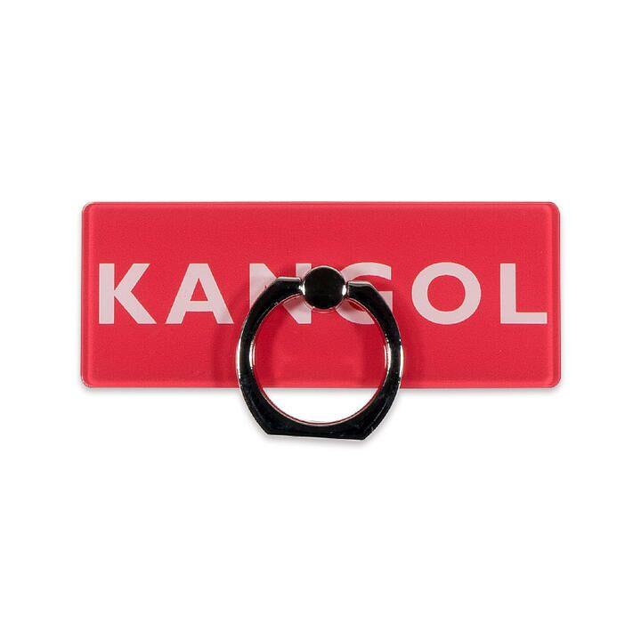 KANGOL カンゴール BOX LOGO RING RED スマホリング iPhone落下防止リング【1月下旬】_0