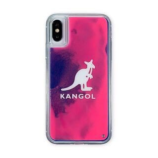 iPhone XS/X ケース KANGOL カンゴール NEON SAND LOGO PNK iPhone XS/X【2月上旬】