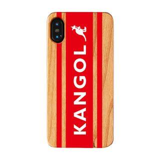 iPhone XS/X ケース KANGOL カンゴール BOXLOGO RED iPhone XS/X