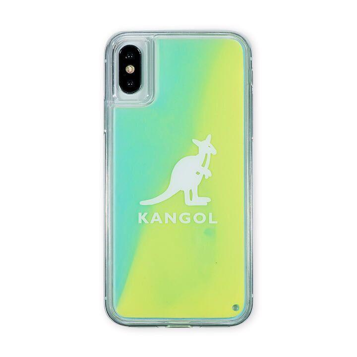 iPhone XS/X ケース KANGOL カンゴール NEON SAND LOGO YEL iPhone XS/X_0