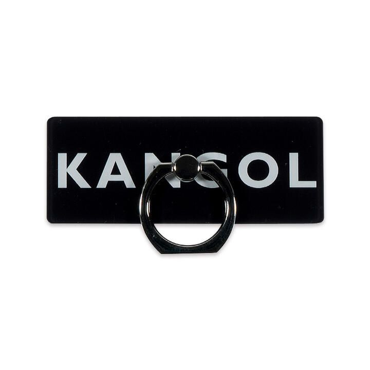 KANGOL カンゴール BOX LOGO RING BLK スマホリング iPhone落下防止リング_0