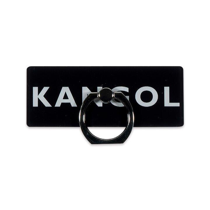 KANGOL カンゴール BOX LOGO RING BLK スマホリング iPhone落下防止リング【1月下旬】_0