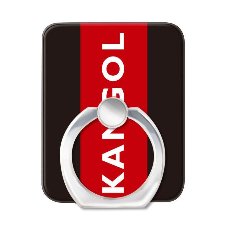 KANGOL カンゴール BOX RED スマホリング iPhone落下防止リング_0