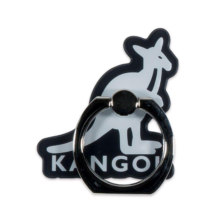 KANGOL カンゴール MOTIF RING BLK スマホリング iPhone落下防止リング【1月下旬】_0
