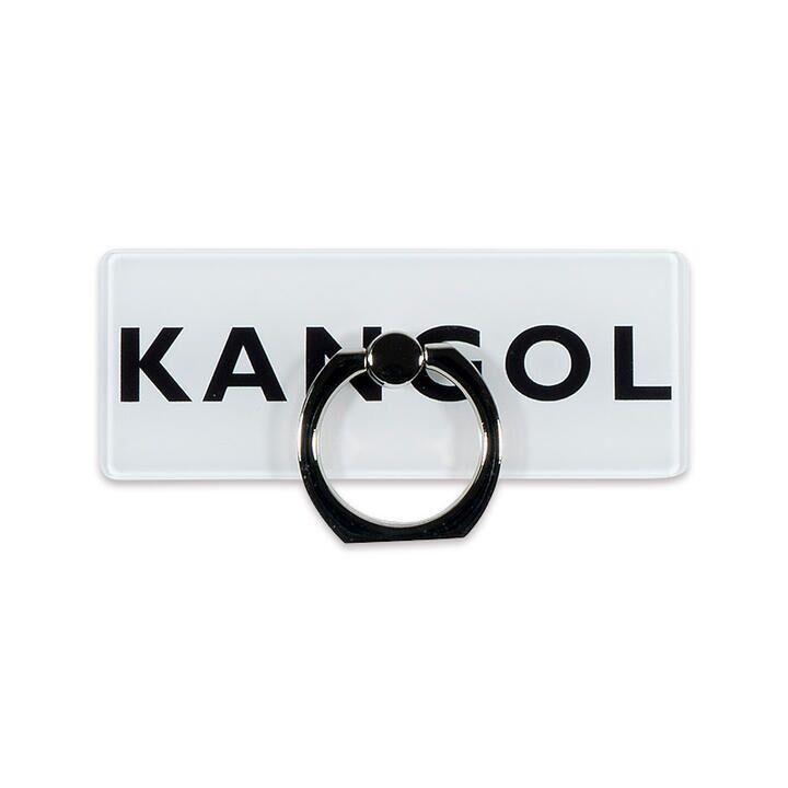 KANGOL カンゴール BOX LOGO RING WHT スマホリング iPhone落下防止リング【1月下旬】_0