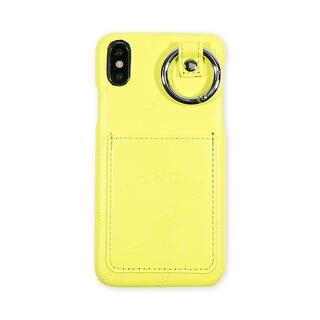 iPhone XS/X ケース KANGOL カンゴール POCKET NEONYEL iPhone XS/X