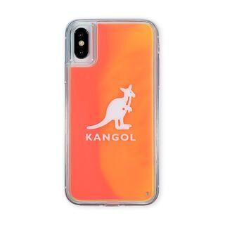 iPhone XS/X ケース KANGOL カンゴール NEON SAND LOGO ORG iPhone XS/X