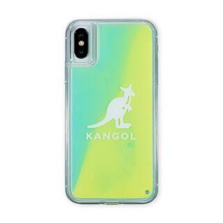 iPhone XS/X ケース KANGOL カンゴール NEON SAND LOGO YEL iPhone XS/X【2月下旬】