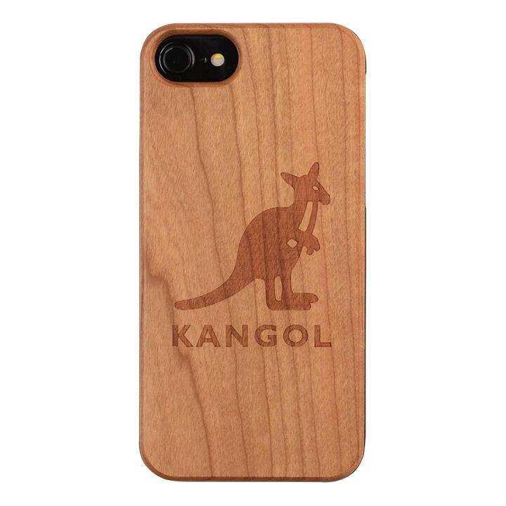 iPhone8/7/6s/6 ケース KANGOL カンゴール ウッドケース LOGO iPhone 8/7/6s/6_0