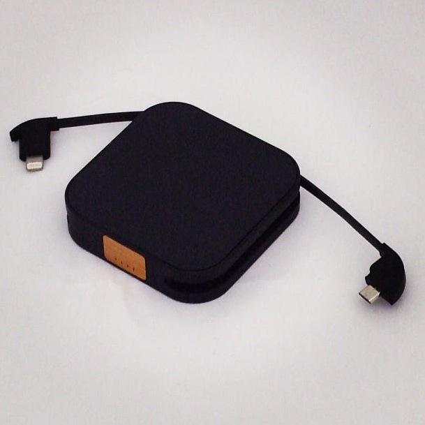 [1850mAh] ワイヤレス充電対応モバイルバッテリー GoPower Day Trip (Black)_0