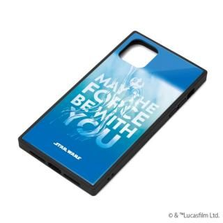 iPhone 11 ケース ガラスハイブリッドケース ブルー iPhone 11【3月上旬】