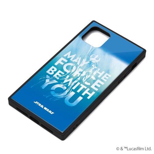 iPhone 11 Pro Max ケース ガラスハイブリッドケース ブルー iPhone 11 Pro Max【10月下旬】_0