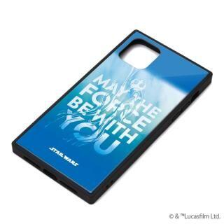 iPhone 11 Pro Max ケース ガラスハイブリッドケース ブルー iPhone 11 Pro Max