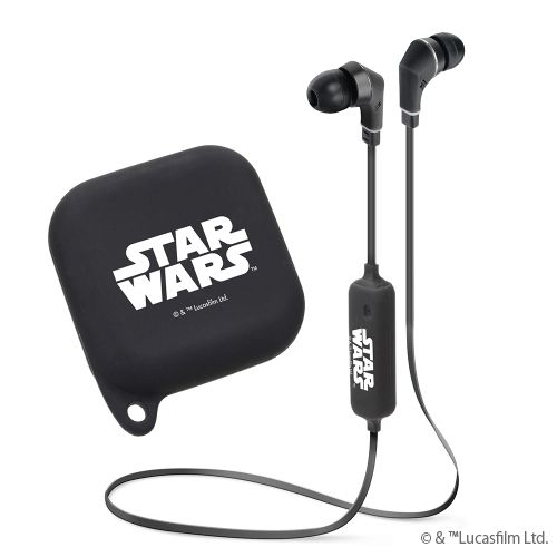 Bluetooth4.1搭載 ワイヤレスステレオイヤホン シリコンポーチ付き STAR WARSロゴ/ブラック_0