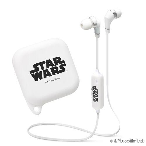 Bluetooth4.1搭載 ワイヤレスステレオイヤホン シリコンポーチ付き STAR WARSロゴ/ホワイト_0