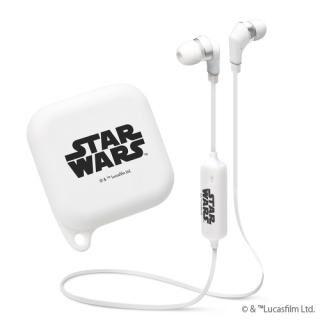 Bluetooth4.1搭載 ワイヤレスステレオイヤホン シリコンポーチ付き STAR WARSロゴ/ホワイト