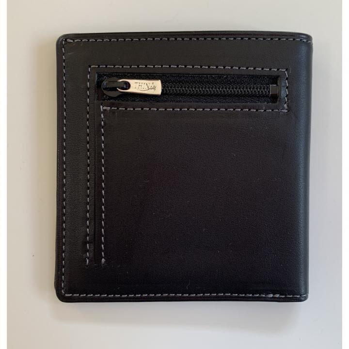 カードがたくさん入るのに薄い手の平財布 小銭入れ付き BS06 ブラック_0