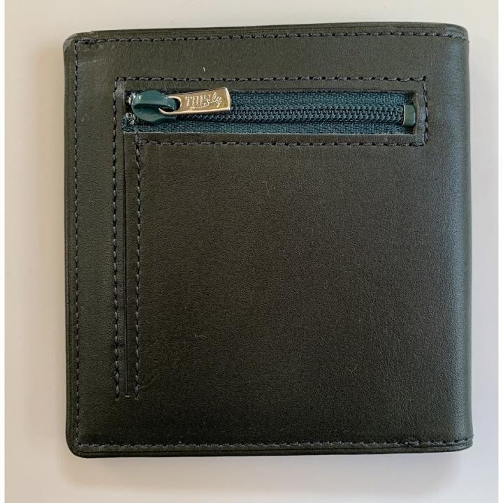 [先行販売]カードがたくさん入るのに薄い手の平財布 小銭入れ付き BS06グリーン_0